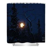 Midwinter Moonrise Shower Curtain
