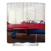 Mig Trainer Jet Shower Curtain