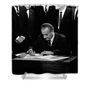 Mightier Than The Sword Shower Curtain by Benjamin Yeager