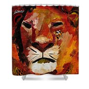 Mighty Lion Shower Curtain