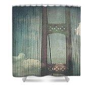 Michigans Mackinac Bridge Shower Curtain
