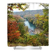 Mighty Mulberry Shower Curtain