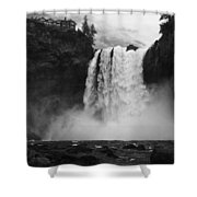 Mighty Snoqualmie Shower Curtain