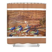 Migrated Birds Shower Curtain