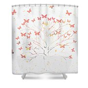 Migration Shower Curtain by Aged Pixel