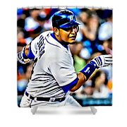 Miguel Cabrera Painting Shower Curtain