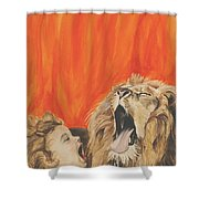 Mika And Lion Shower Curtain