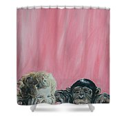 Mika And Monkey Shower Curtain