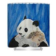 Mika And Panda Shower Curtain