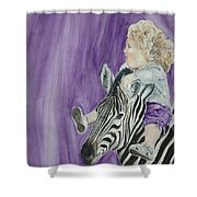 Mika And Zebra Shower Curtain