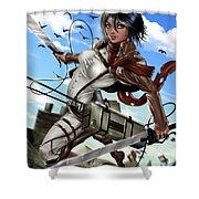 Mikasa Ackerman Shower Curtain
