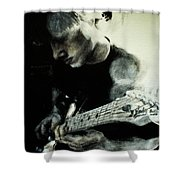 Mike And His Guitar Shower Curtain
