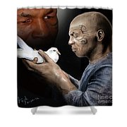 Mike Tyson And Pigeon II Shower Curtain