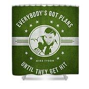 Mike Tyson - Green Shower Curtain