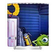 Mike With Boo's Door - Monsters Inc. In Disneyland Paris Shower Curtain