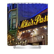 Mike's Pastry Shop - Boston Shower Curtain by Joann Vitali