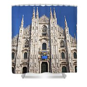 Milan Cathedral  Shower Curtain by Antonio Scarpi
