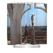Milan Cathedral Rooftop View Shower Curtain