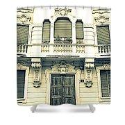 Milan Vintage Building Shower Curtain