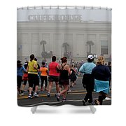 Mile 10 At Cliffhouse Shower Curtain by Dean Ferreira
