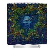 Miles. Aura. Into Creation Shower Curtain