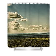 Mile's Between Us. Shower Curtain