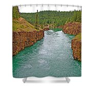 Miles Canyon In Whitehorse-yt Shower Curtain