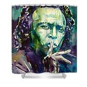 Miles Davis Watercolor Portrait.2 Shower Curtain