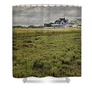 Milford Point Beach Shower Curtain