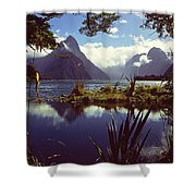 Milford Sound In New Zealand's Fiordland National Park Shower Curtain