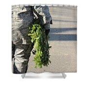 Military Christmas  Shower Curtain