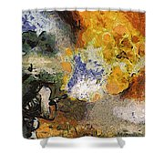 Military Flame Thrower Photo Art 02 Shower Curtain