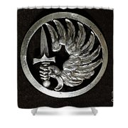 Military - French Foreign Legion Insignia Shower Curtain