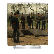 Military Funeral Shower Curtain