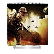 Military Our Heroes Shower Curtain