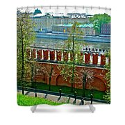 Military Parade Practice Inside Kremlin Walls In Moscow-russia Shower Curtain