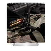 Military Pile Shower Curtain