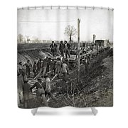Military Railway, C1863 Shower Curtain