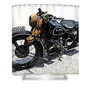Military Style Bmw Motorcycle Shower Curtain