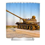Military Tank Outdoor Installation View Shower Curtain