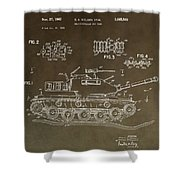 Military Tank Patent Shower Curtain