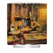 Military Ww I Command Post Photo Art 02 Shower Curtain