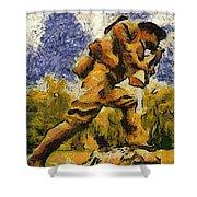 Military Ww I Doughboy 02 Photo Art Shower Curtain