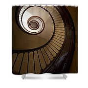 Milk And Chocolate Staircase Shower Curtain