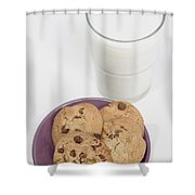 Milk And Cookies Shower Curtain by Greenwood GNP