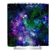 Milky Way Abstract Shower Curtain