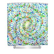 Milky Way Galaxy - Watercolor Painting Shower Curtain