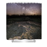 Milky Way On The Rock Shower Curtain