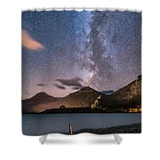 Milky Way Over Prince Of Wales Hotel Shower Curtain