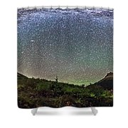 Milky Way Over Red Rock Canyon Shower Curtain